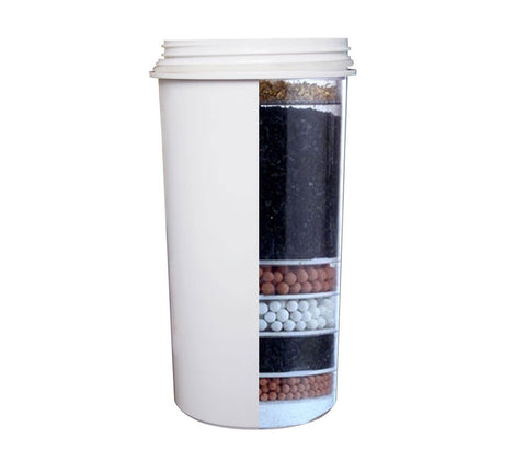 White encased 8 stage water filter