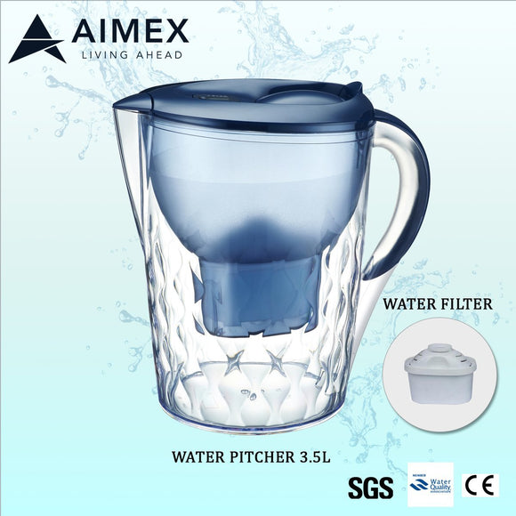 Aimex Water Filter Pitcher Jug 3.5L - BLUE - Mari Australia