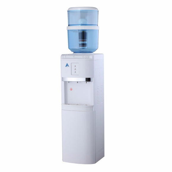 Aimex Free Standing White Water Cooler Dispenser with 8 Stage Filter Cartridge & Lower Storage Cabinet - Mari Australia