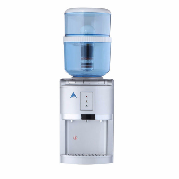 Aimex  Silver Counter Top Water Cooler Dispenser with 8 Stage Filter Cartridge - Mari Australia