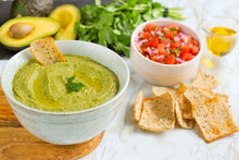 Load image into Gallery viewer, Avocado Bean Guacamole Dip Chips Salsa