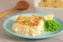 Load image into Gallery viewer, creamy salmon pasta bake