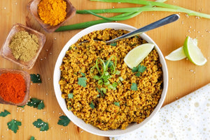 Golden Quinoa Pilaf spices