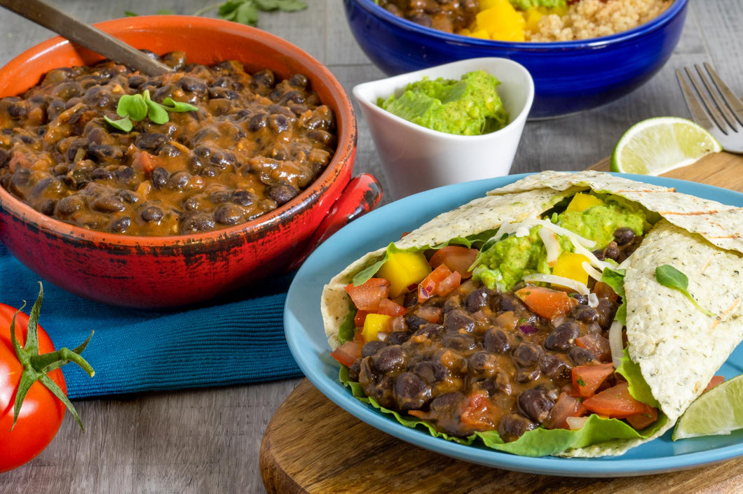 Mexican Style TexMex Black Beans with Salsa