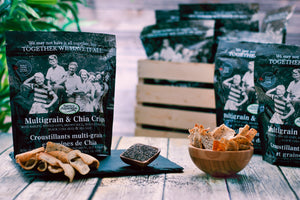 Barrie's Asparagus Multigrain Chia Crisps Chips Crackers