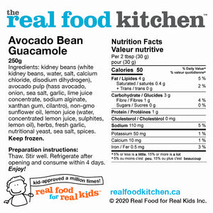 Avocado Bean Guacamole Dip Label