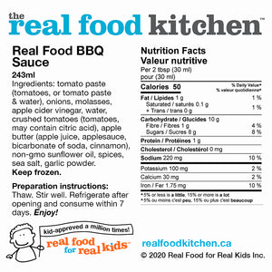 Real Food BBQ Barbeque Sauce Label