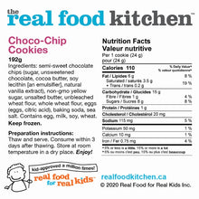 Load image into Gallery viewer, Choco-Chip Cookies Label Nutritional Facts