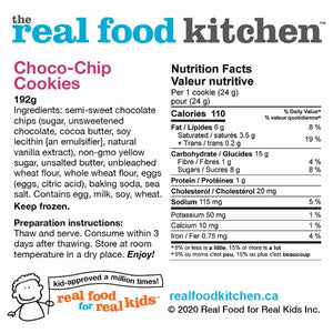 Choco-Chip Cookies Label Nutritional Facts