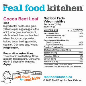 Cocoa Beet Loaf Label