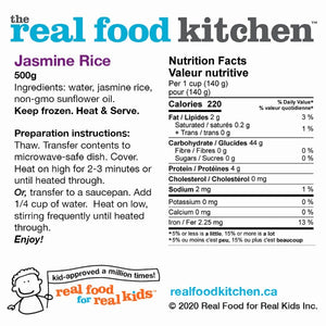 Thai Jasmine Long Grain White Rice Label Nutritional Facts