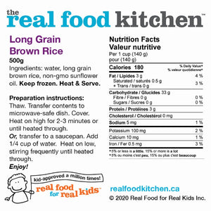 Lundberg Long Grain California Rice Label Nutritional Facts