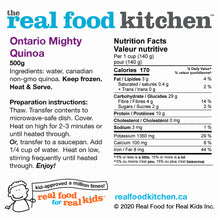 Load image into Gallery viewer, Quinta Ontario Mighty Quinoa Label Nutritional Facts