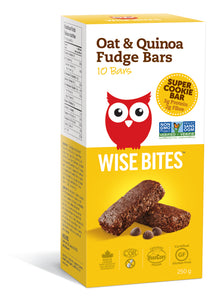 Wise Bites Oat Quinoa Fudge Bar Box Package