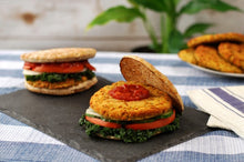 Load image into Gallery viewer, Chickpea Patty Vegetarian Vegan  Burger