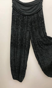 Harem Pants Grey Print