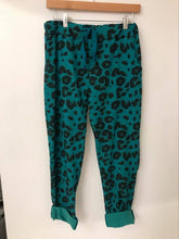 Load image into Gallery viewer, Magic Trousers Leopard Print Teal