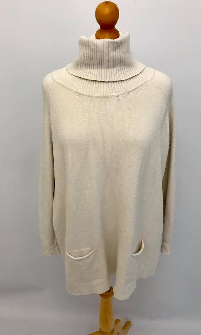 Roll Neck Jumper Taupe