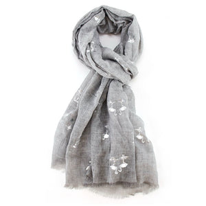 Scarf Silver Flamingo Grey