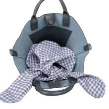 Load image into Gallery viewer, Grey Grab Bag with Gingham Greay