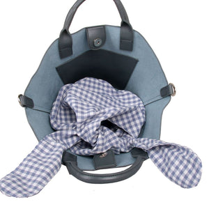 Grey Grab Bag with Gingham Greay