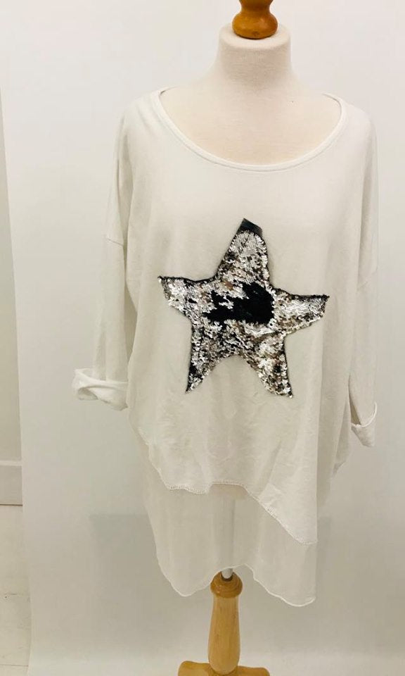Sweatshirt Star White