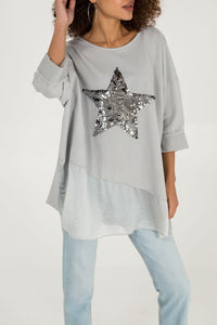 Sweatshirt Star Pale Pink