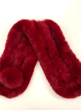 Load image into Gallery viewer, Faux Fur Neck Warmer - Burgundy