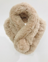 Load image into Gallery viewer, Faux Fur Neck Warmer - Biscuit