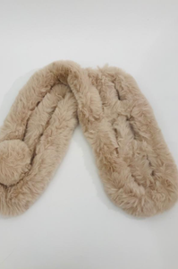 Faux Fur Neck Warmer - Biscuit