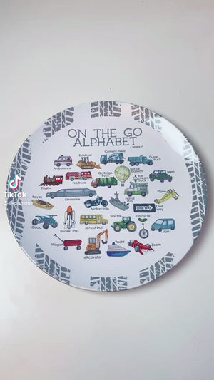"On the Go Alphabet 10"" Thermosaf Plastic Plate"