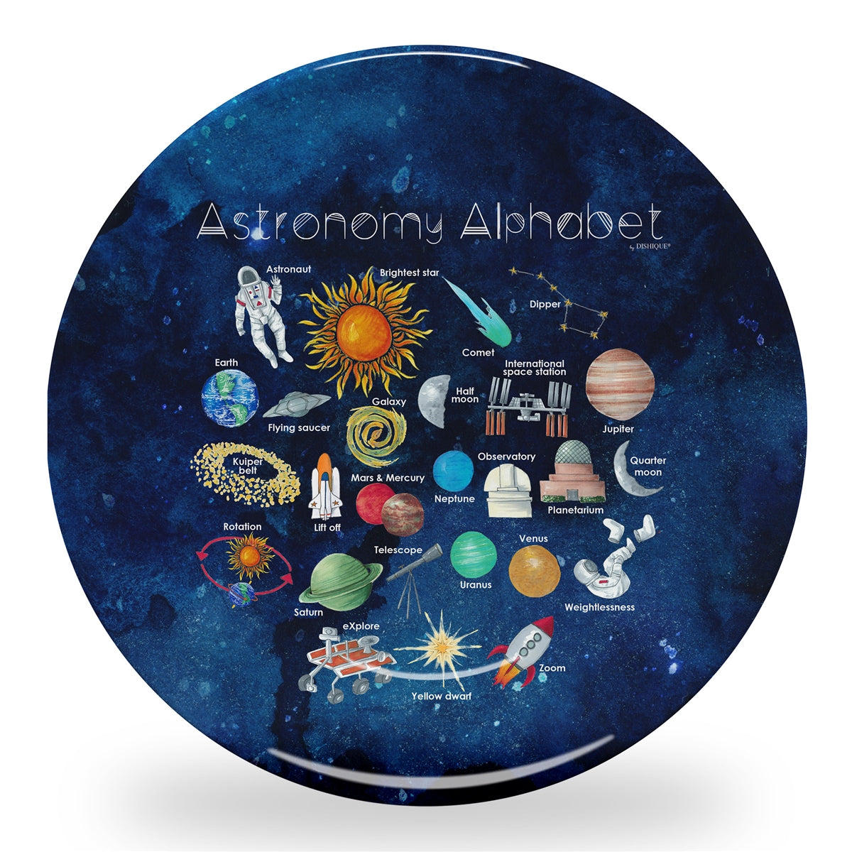 "Astronomy Alphabet 10"" Thermosaf Polymer Plate"