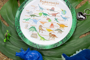 "Prehistoric Alphabet 10"" ThermoSaf Polymer Plate"