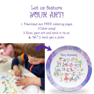 "YOUR ART Fairy Alphabet 10"" Break-resistant ThermoSaf Polymer Plate"