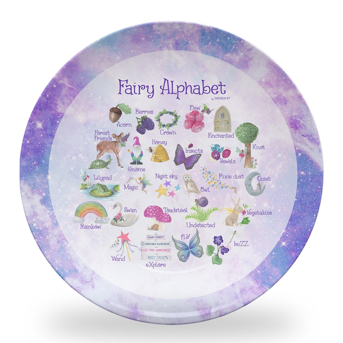"Fairy Alphabet 10"" Thermosaf Polymer Plate"