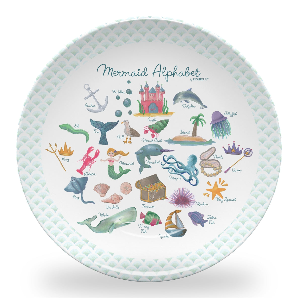 "Mermaid Alphabet 10"" ThermoSaf Polymer Plate"