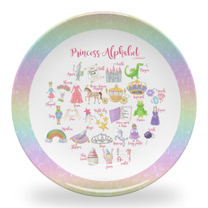 "Princess Alphabet 10"" ThermoSaf Polymer Plate"