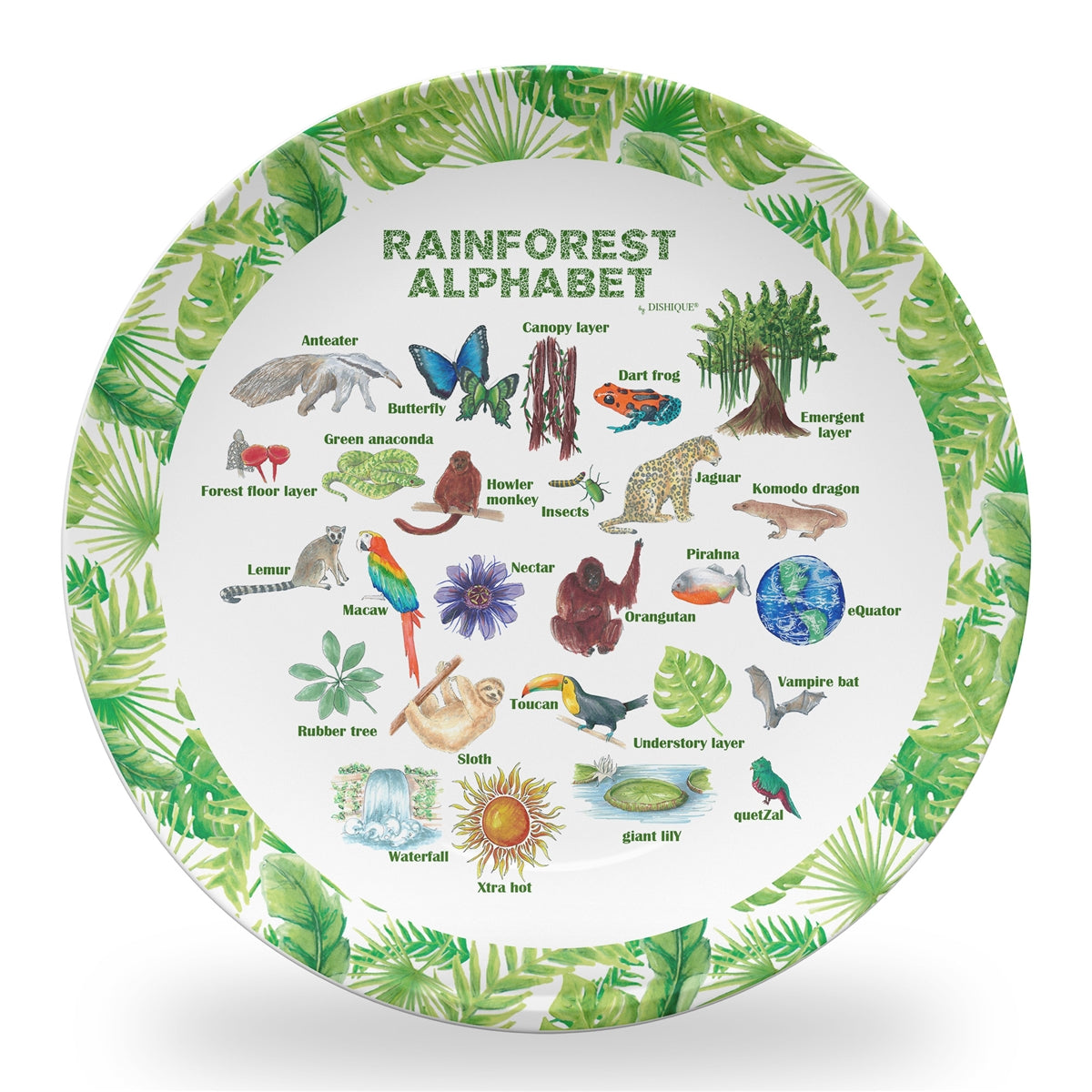 "Rainforest Alphabet 10"" Thermosaf Polymer Plate"