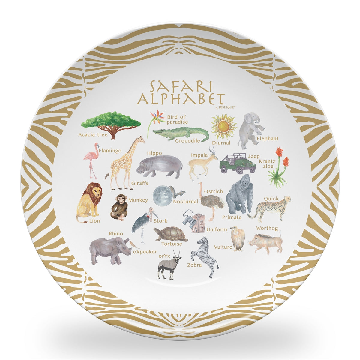"Safari Alphabet 10"" Thermosaf Polymer Plate"