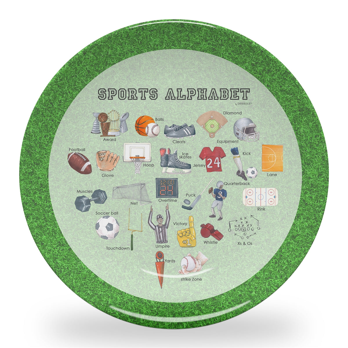 "Sports Alphabet 10"" Thermosaf Polymer Plate"