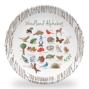 "Woodland Alphabet 10"" Thermosaf Polymer Plate"