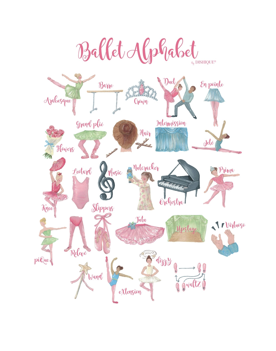 Ballet Alphabet Wall Art