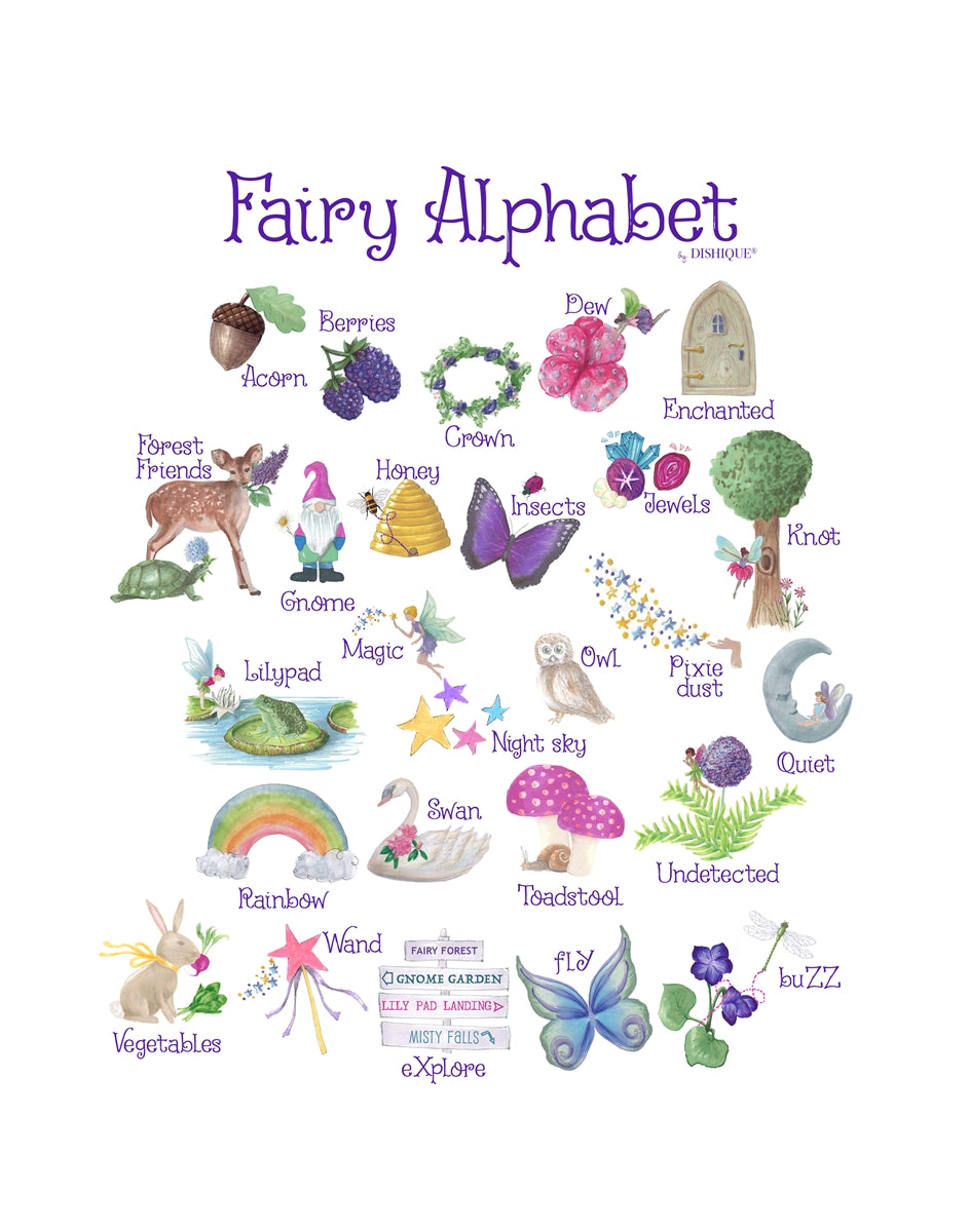 Fairy Alphabet Wall Art