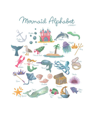 Mermaid Alphabet Wall Art
