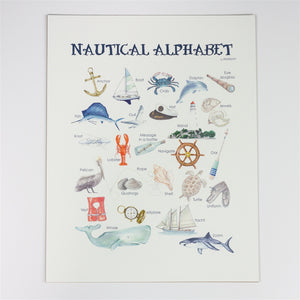 Nautical Alphabet Wall Art