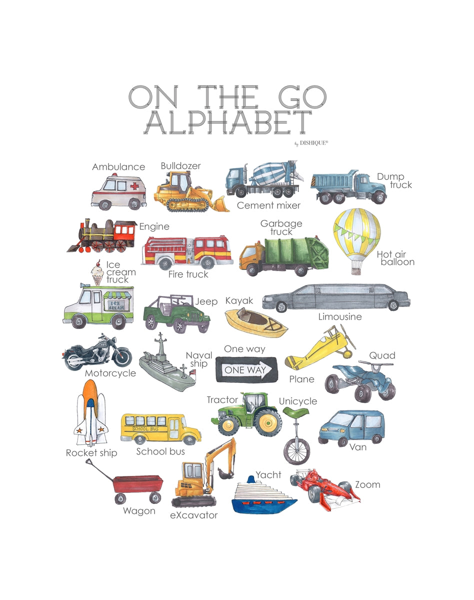 On The Go Alphabet Wall Art