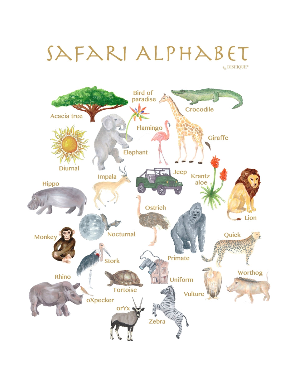 Safari Alphabet Wall Art