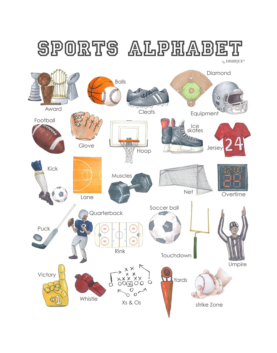 Sports Alphabet Wall Art