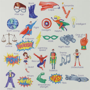 Superhero Alphabet Wall Art