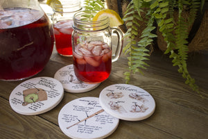 Baseball Anatomy Coaster Set